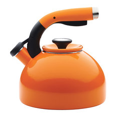 Circulon Enamel-on-Steel Teakettle, 2-Quart, Morning Bird, Orange