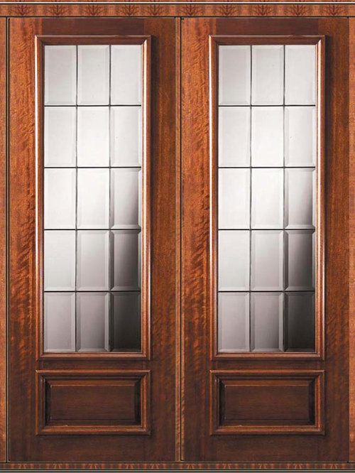 3 4 lite french doors for Double hung exterior french doors