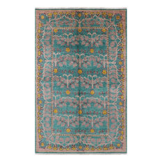 Oriental Hand Knotted Wool William Morris Area Rug 6'x9', Q1749