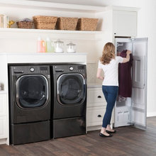LG Black Stainless Front-Load Laundry Suite
