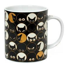 Cat Eyes Black Mug