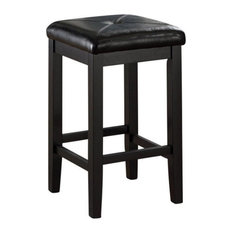 Pemberly Row 24-inch Square Counter Stool In Black (Set Of 2)