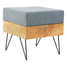 Moe's Home Collection - Pouf Square, Natural - Floor Pillows and Poufs