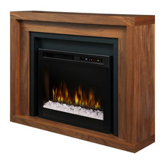 Dimplex Anthony Mantel Electric Fireplace With Glass Ember Bed