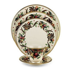 Lenox Holiday Tartan China 16 Place Settings 82-Piece Set