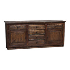 "Reclaimed Barnwood Vanity Double Sink, 72""x20""x32"", Left and Right Drawers False"
