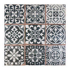 SomerTile Faventia Ceramic Floor and Wall Tile, Nero