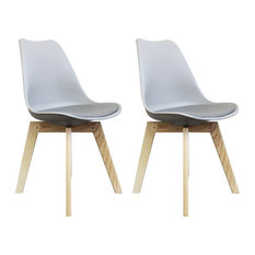 Scandi Wood X Dining Chair, Dove Grey, Set of 2