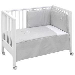 Crown 2-Piece Cot Bedding Set, Grey, 60x120 cm