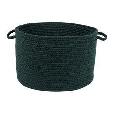"""Rhody Rug Wear Ever Spruce Green Poly 18""""X12"""" Basket"""