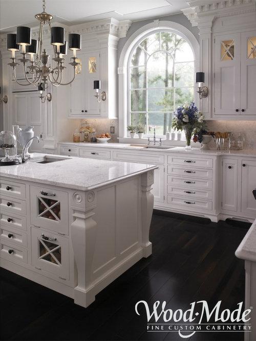 Creamy White Cabinets Black