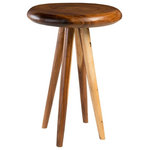 Phillips Collection - Chamcha Wood Bar Table, Round - This simple, yet elegant bar table is crafted from solid Chamcha wood. Hand sculpted