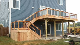 New wood patio, stairs and landing