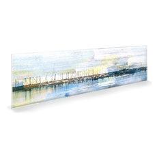 "Oliver Gal Boats at Shore"" Acrylic Art, 17""x20"""