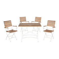 Safavieh Julie Outdoor Dining Set, 5-Piece, Teak Brown