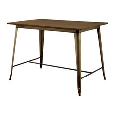 Furniture of America Mayfield Wood Counter Height Dining Table in Natural Elm