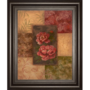 Classy ArtThe Lily Style by Vivian Flasch Framed Print Wall Art Red