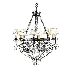 Cottage chandeliers houzz dr livingstone i presume black iron french basket chandelier romantic country cottage wire aloadofball Image collections