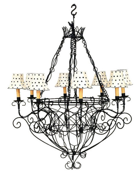 Black iron french basket chandelier romantic country cottage wire 8 black iron french basket chandelier romantic country cottage wire 8 light aloadofball Gallery