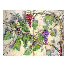 Tile Mural, Grape Bounty by Theresa Kasun