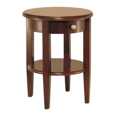 Winsome Wood Transitional Antique Walnut Composite Wood Side Table