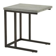 Most Popular Industrial ConcreteTop Side Tables And End Tables - Industrial concrete side table