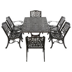 Simple Traditional Outdoor Dining Sets by GDFStudio