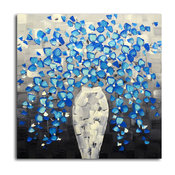 """""""Cerulean Escape from the Vase"""" Original Oil Painting on Canvas"""