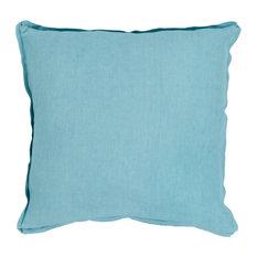 Solid Decorative Pillow in Aqua