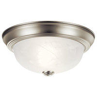 Kichler Lighting 8108NI Flush Mount Light, Brushed Nickel