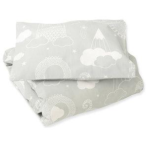 Dragon Sky Grey Bedding Set, Pram, 70x80 cm