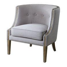 Gamila Light Gray Accent Chair (23220)