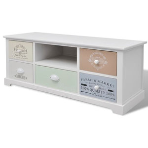 vidaXL Shabby Chic French TV Cabinet