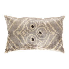 "Pasargad Turkish Velvet Ikat Pillow- 15"" x 23"""