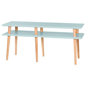 Mugo Small Scandinavian TV Stand, Pale Turquoise