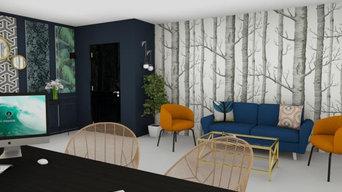 aménagement et décoration d'un showroom à Theix