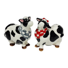 Cow Salt and Pepper Shakers, Set of 2