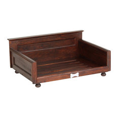 hounds best wooden traditional pet bed frame small dog