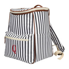 Personalized Striped Backpack Cooler, Blue, Q