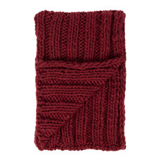 Chunky Knit Throw Blanket, Red 50x60