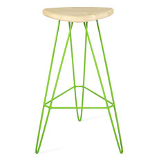 Madison Bar Stool, Green, Maple