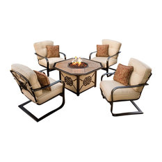 5-Pc Deep Outdoor Seating Chat Set in Antique Bronze