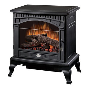 Dimplex Ds5629Mb Traditional Electric Stove With Thermostat, Matte Black, 1500W
