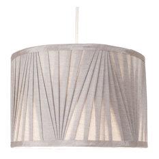 Silver 30 cm Faux Silk Pendant Light Shade