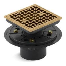Kohler - Kohler Square Design Tile-in Shower Drain, Vibrant Moderne Brushed Gold - Tub and Shower Parts