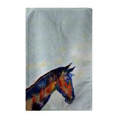 Betsy Drake Blue Horse Beach Towel