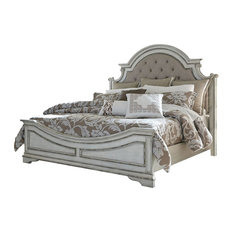 Liberty Magnolia Manor Queen Upholstered Bed, Antique White