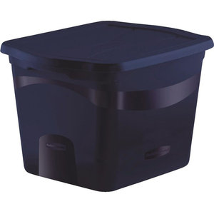 Rubbermaid Rmcs180000 Clever Stacking View Tote 18 Gal