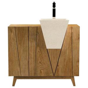 Bonerate Bathroom Vanity Unit, 100 cm