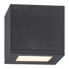 "WAC Lighting Rubix 5"" Indoor or Outdoor LED Flush Mount, Black"